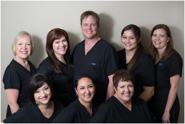Dr.. Reger and his staff at Incredible Smiles of Texas in San Antonio.